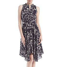 Ivanka Trump® Iced Floral Jersey Dress
