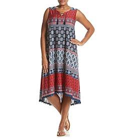 Oneworld® Plus Size Lace-Up Americana Dress