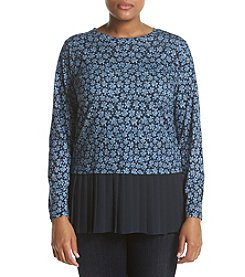 MICHAEL Michael Kors® Plus Size Pleated Hem Top