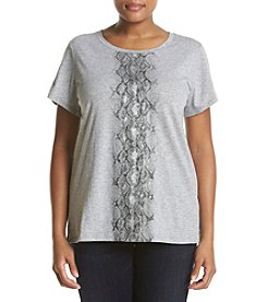 MICHAEL Michael Kors® Plus Size Metallic Snake Ombre Knit Top