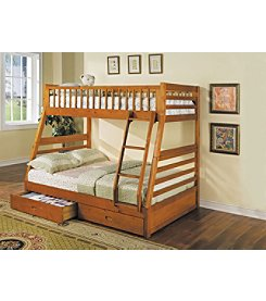Acme Jason Twin over Full Bunk Bed with 2-Drawers