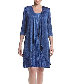 R&M Richards® Petites' Metallic Jacket Dress
