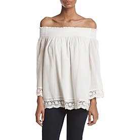 Philosophy by Republic Clothing Lace Off Shoulder Top
