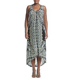 Oneworld® Plus Size Floral Crepe Dress
