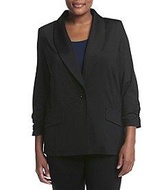 Kasper® Plus Size One Button Shawl Jacket