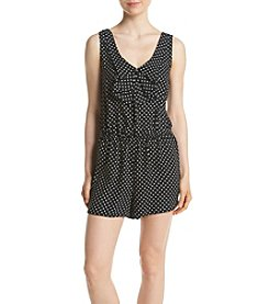 Be Bop Black Ivory Polka Dot Romper