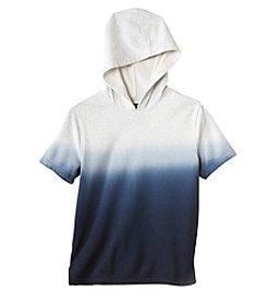 Seven Oaks Boys' Short Sleeve Popover Dip Dye Hoodie