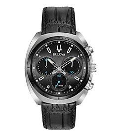 Bulova® CURV Men's Chronograph Leather Strap Watch