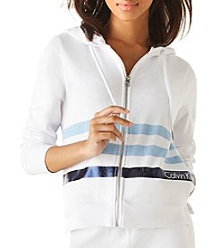 Calvin Klein Performance Metallic Striped Hooded Jacket