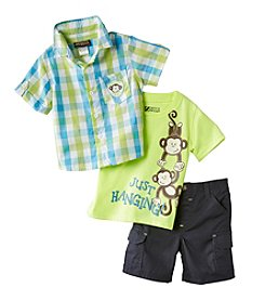 Nannette® Baby Boys' Just Hanging Monkey 3-Piece Set