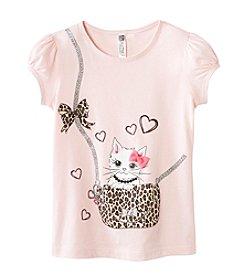 Beautees Girls' 4-6X 3D Kitty Purse Tee