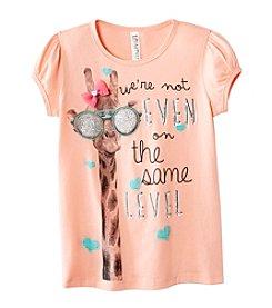 Beautees Girls' 4-6X Cool Giraffe Tee