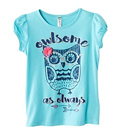 Beautees Girls' 4-6X 3D Owlsome As Always Tee