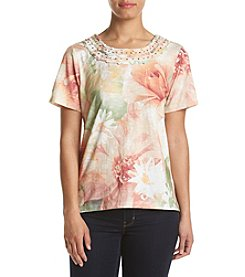 Alfred Dunner® Petites' Watercolor Floral Top