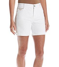 Bandolino® Mandie Embroidery Shorts