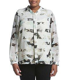 Calvin Klein Plus Size Print Woven Top