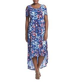 Relativity® Plus Size Cold Shoulder Dress