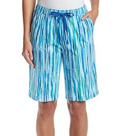 KN Karen Neuburger Stripe Bermuda Shorts