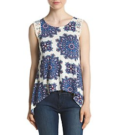 Eyeshadow® Lace Trim America Tank