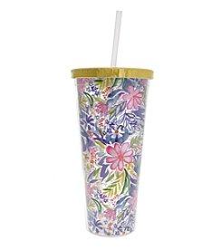 Erica Lyons® Tropical Print Straw Tumbler  Gift