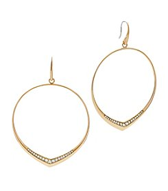 Michael Kors® Pave Goldtone Hoop Earrings