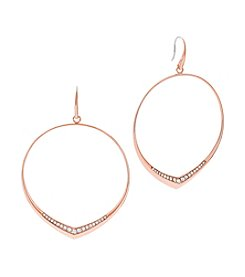 Michael Kors® Pavé Accented Hoop Drop Earrings