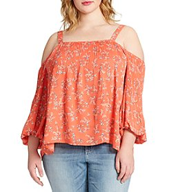 Jessica Simpson Plus Size Anita Off The Shoulder Top