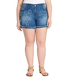 Jessica Simpson Plus Size Journey Star Print Shorts
