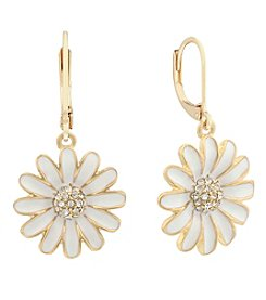 Gloria Vanderbilt™ Daisy Leverback Drop Earrings