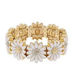 Gloria Vanderbilt™ Daisy Wide Stretch Bracelet