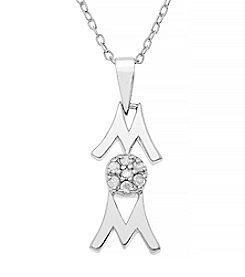 Marsala Sterling Silver Mom Diamond .10 ct. t.w Pendant