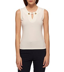 Tommy Hilfiger® Grommet V-Neck Top