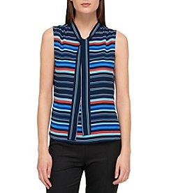 Tommy Hilfiger® Tie Neck Blouse