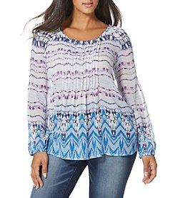 Vintage America Blues™ Plus Size Moon Peasant Top