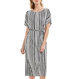 Vince Camuto® Short Sleeve Striped Dress
