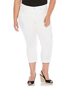 Rafaella® Plus Size Ankle Crop Jeans