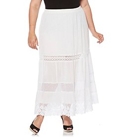 Rafaella® Plus Size Broomstick Skirt