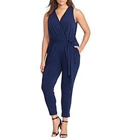 Lauren Ralph Lauren® Plus Size V-Neck Jumpsuit