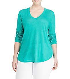 Lauren Ralph Lauren® Plus Size V-Neck Tunic