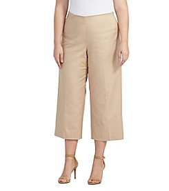 Lauren Ralph Lauren® Plus Size Wide Leg Cropped Pants