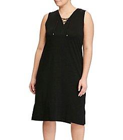 Lauren Ralph Lauren® Plus Size V-Neck Dress