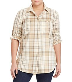 Lauren Ralph Lauren® Plus Size Plaid Button-Up Shirt