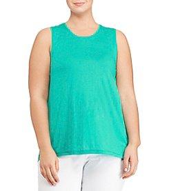 Lauren Ralph Lauren® Plus Size Crew Neck Tank