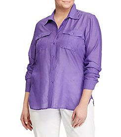 Lauren Ralph Lauren® Plus Size Button-Up Shirt