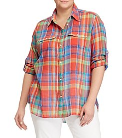 Lauren Ralph Lauren® Plus Size Plaid Button-Up Top
