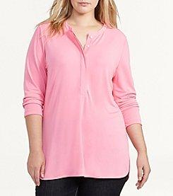 Lauren Ralph Lauren® Plus Size Matte Jersey Tunic Top