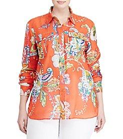 Lauren Ralph Lauren® Plus Size Floral Paisley Top