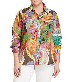 Lauren Ralph Lauren® Plus Size Paisley Button-Up Top