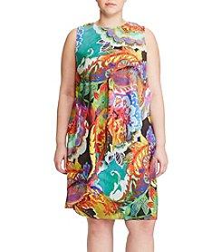 Lauren Ralph Lauren® Plus Size Paisley Drape Dress