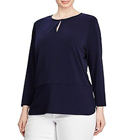 Lauren Ralph Lauren® Plus Size Keyhole Knit Top